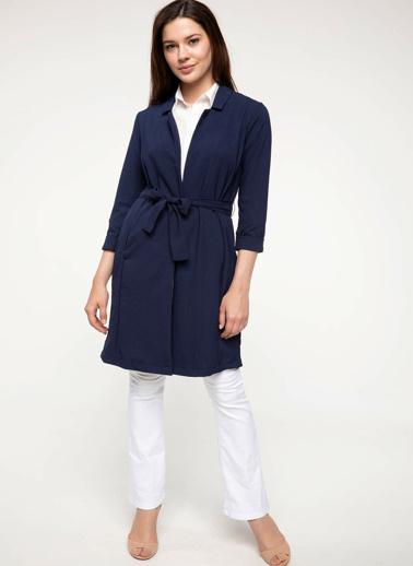 DeFacto Uzun Blazer Ceket Lacivert